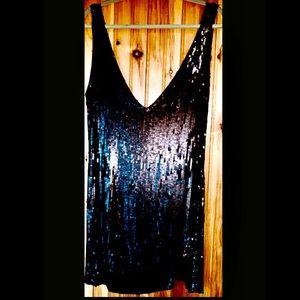 Free People Intimately Black Sequin Slipdress L